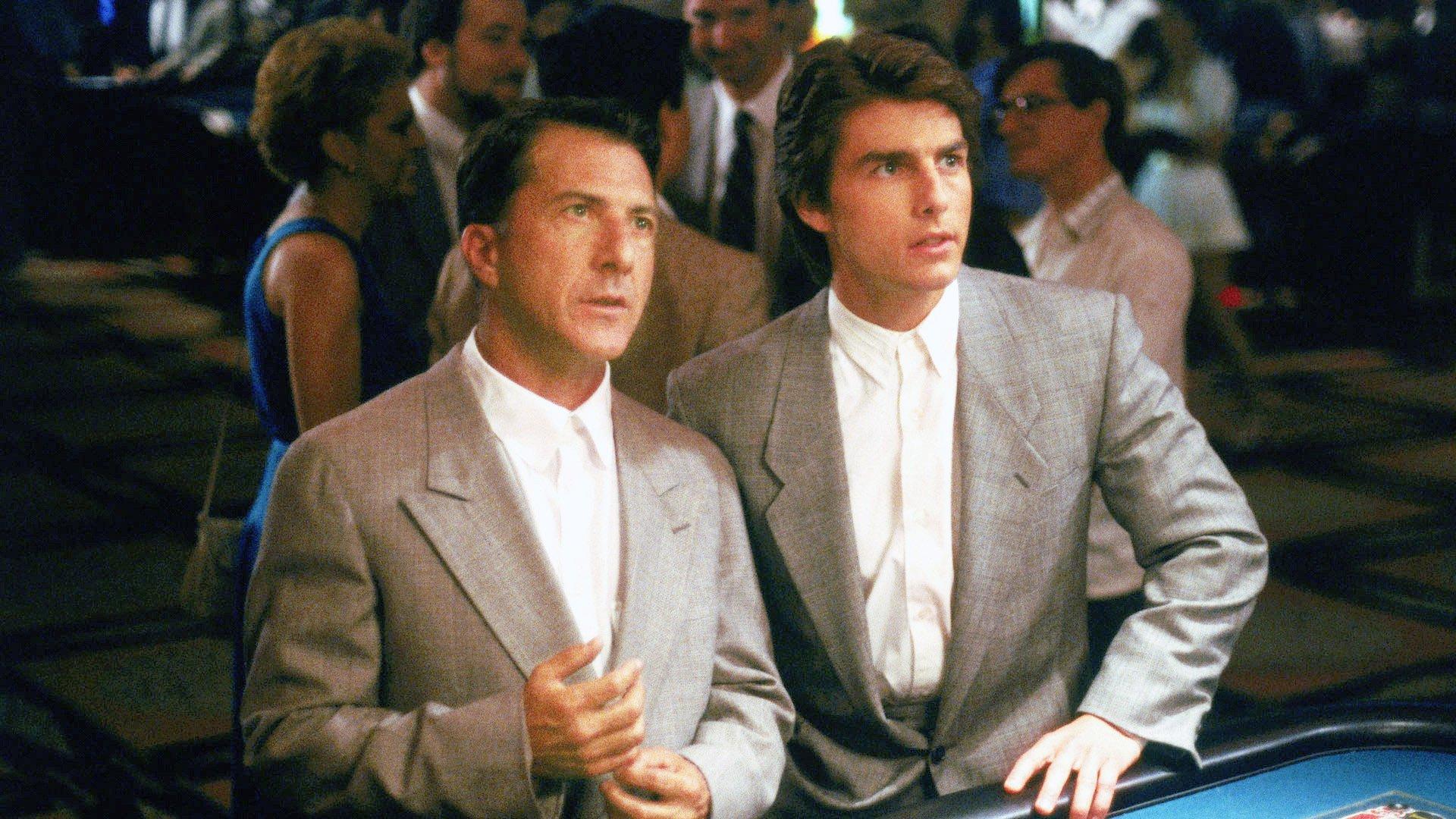 tom cruise dans Rain Man (1988) de Barry Levinson