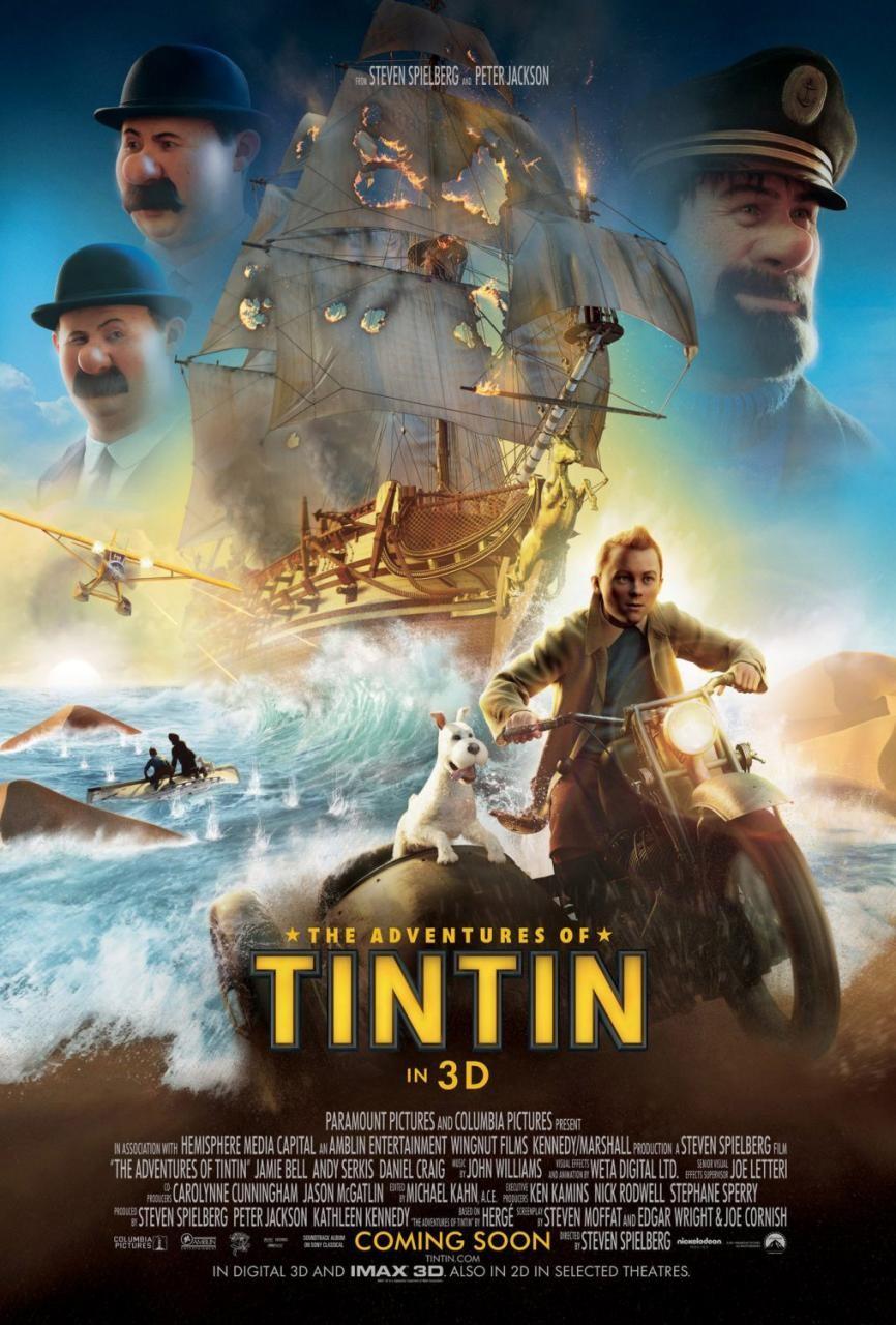 affiche Les Aventures de Tintin : le secret de la licorne (2011)