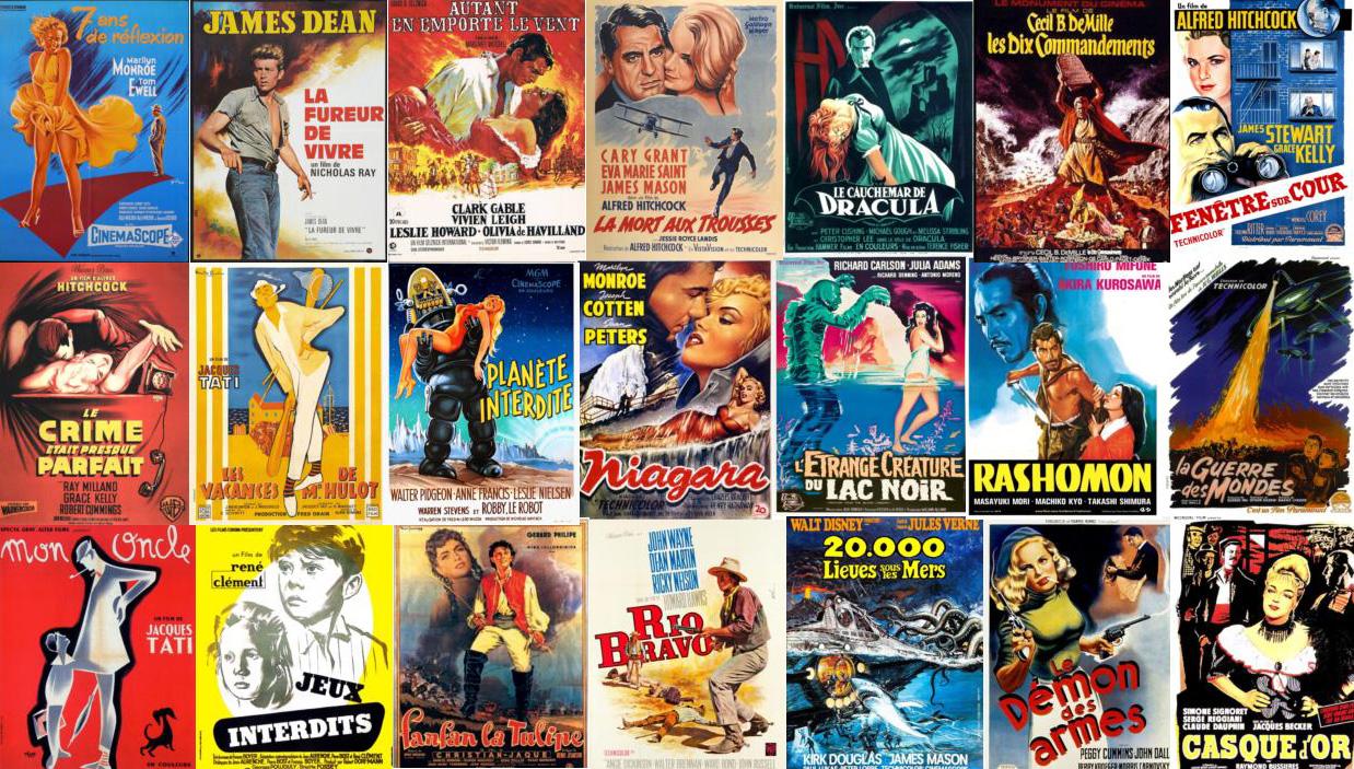 top affiches des années 50