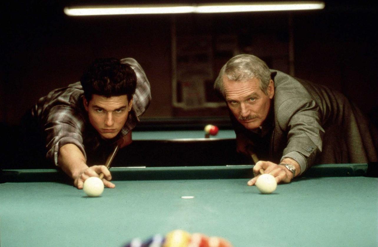 tom cruise dans La Couleur de l'argent (1986) de Martin Scorsese