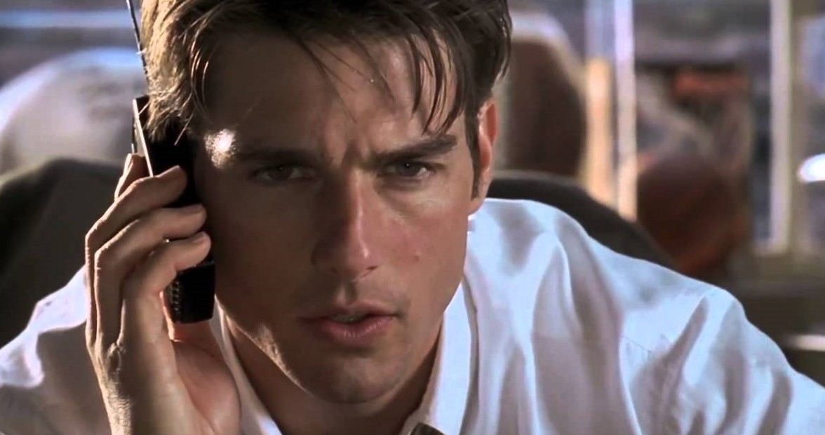 tom cruise dans Jerry Maguire (1996) de Cameron Crowe