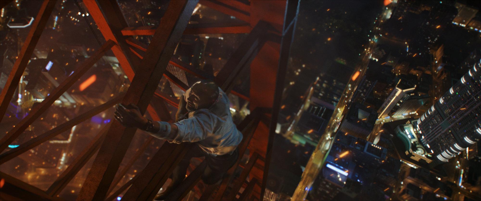 dwayne johnson se la joue bruce willis dans skyscraper