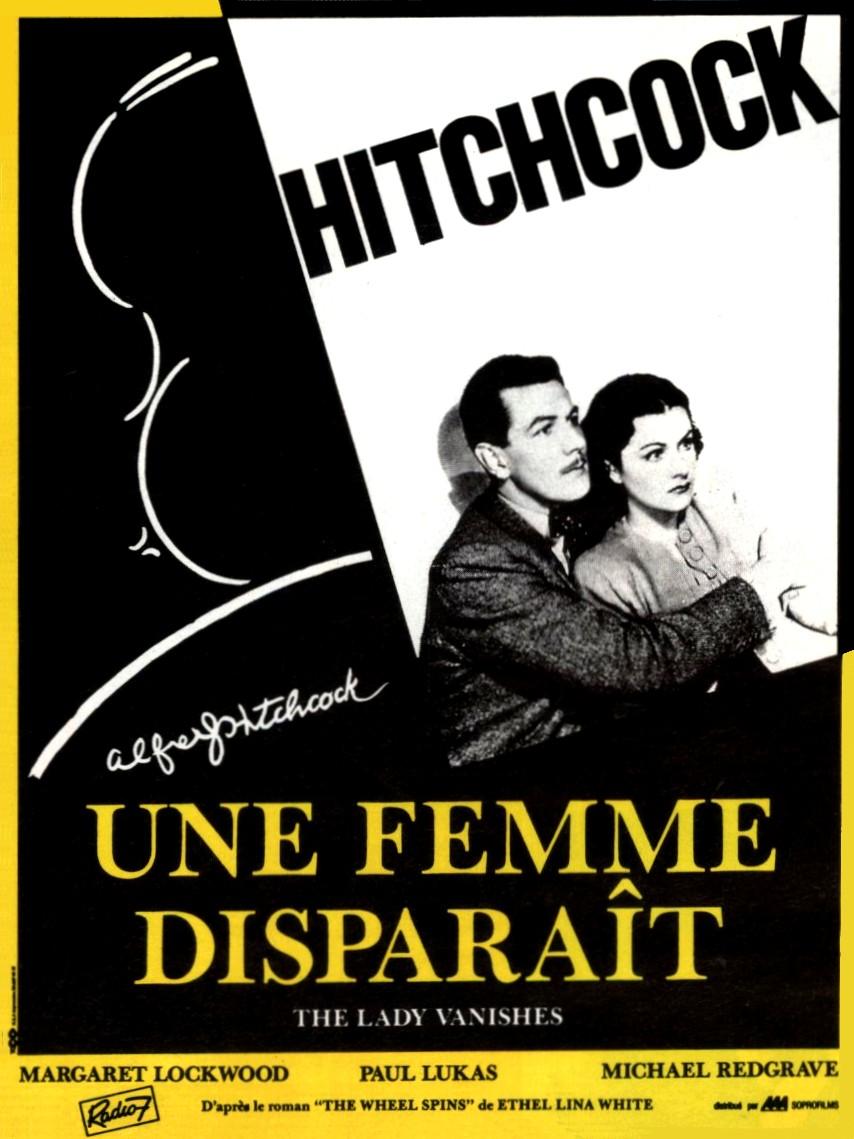 affiche de Une femme disparaît (1938) d'Alfred Hitchcock