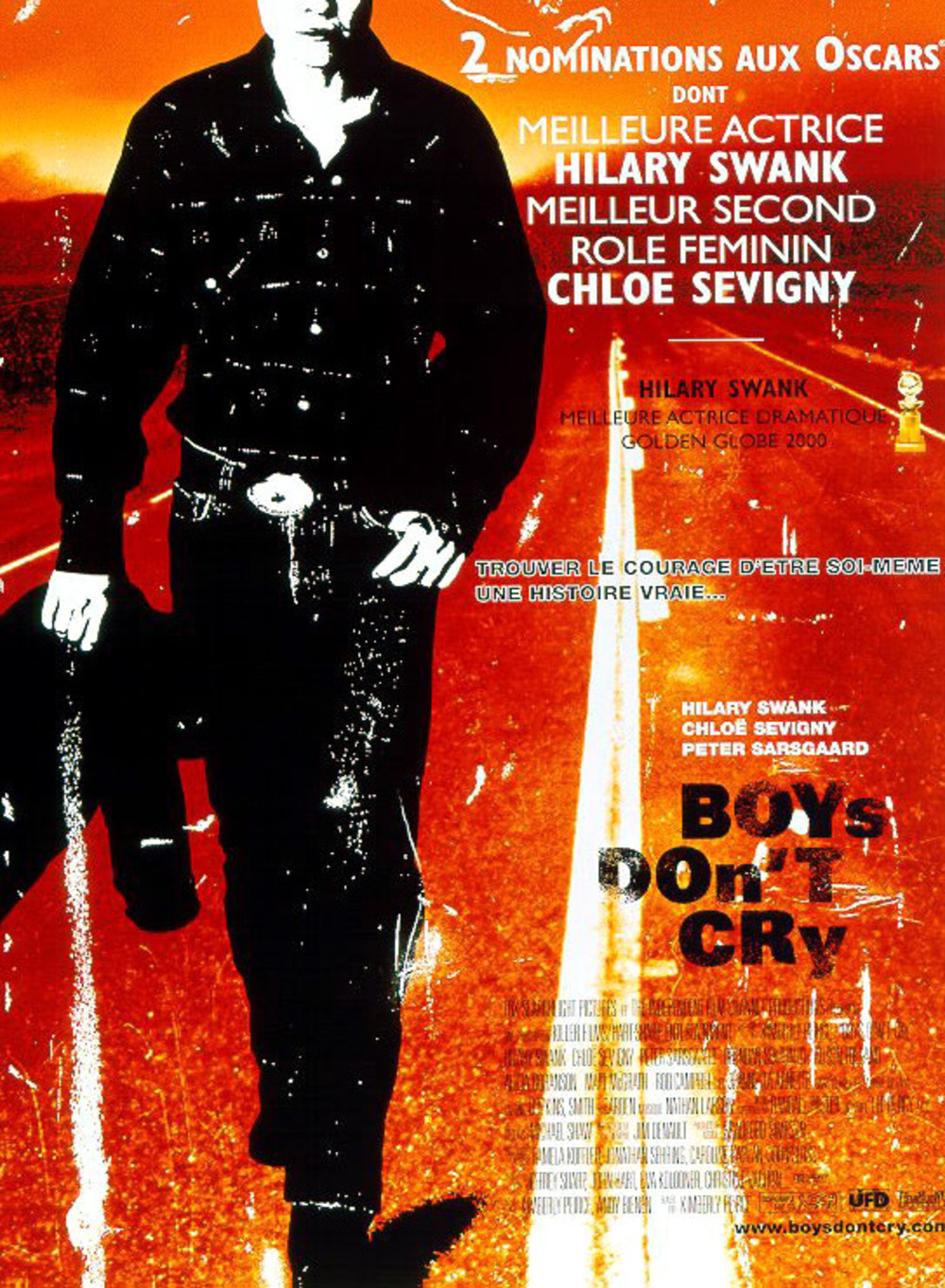 Boys don't cry (1999) de Kimberly Peirce affiche
