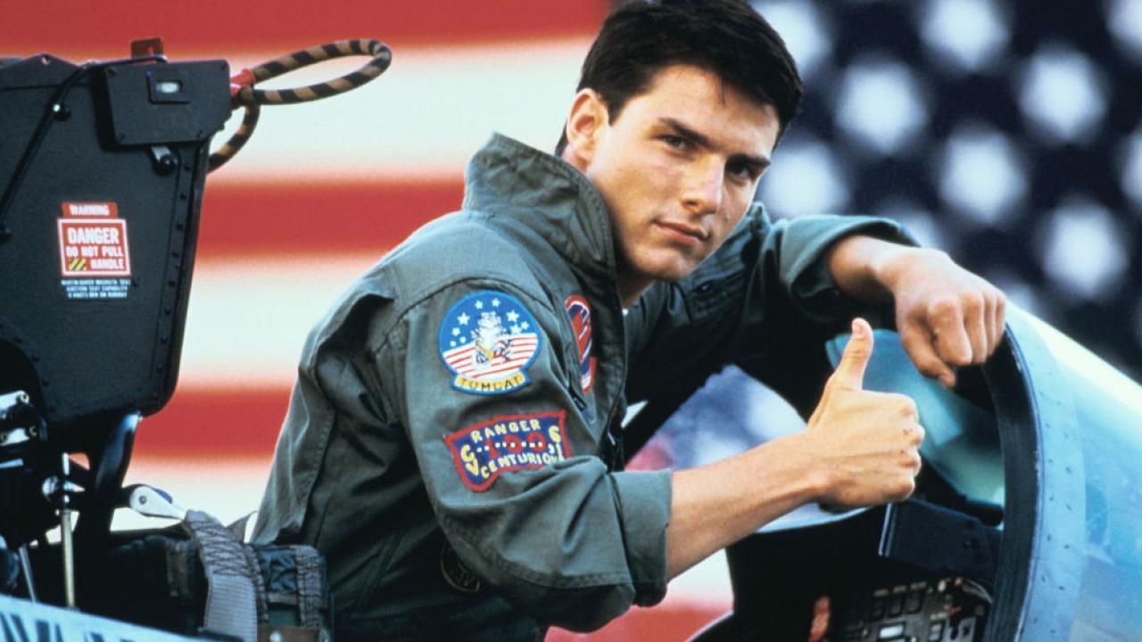 tom cruise dans Top gun (1986) de Tony Scott