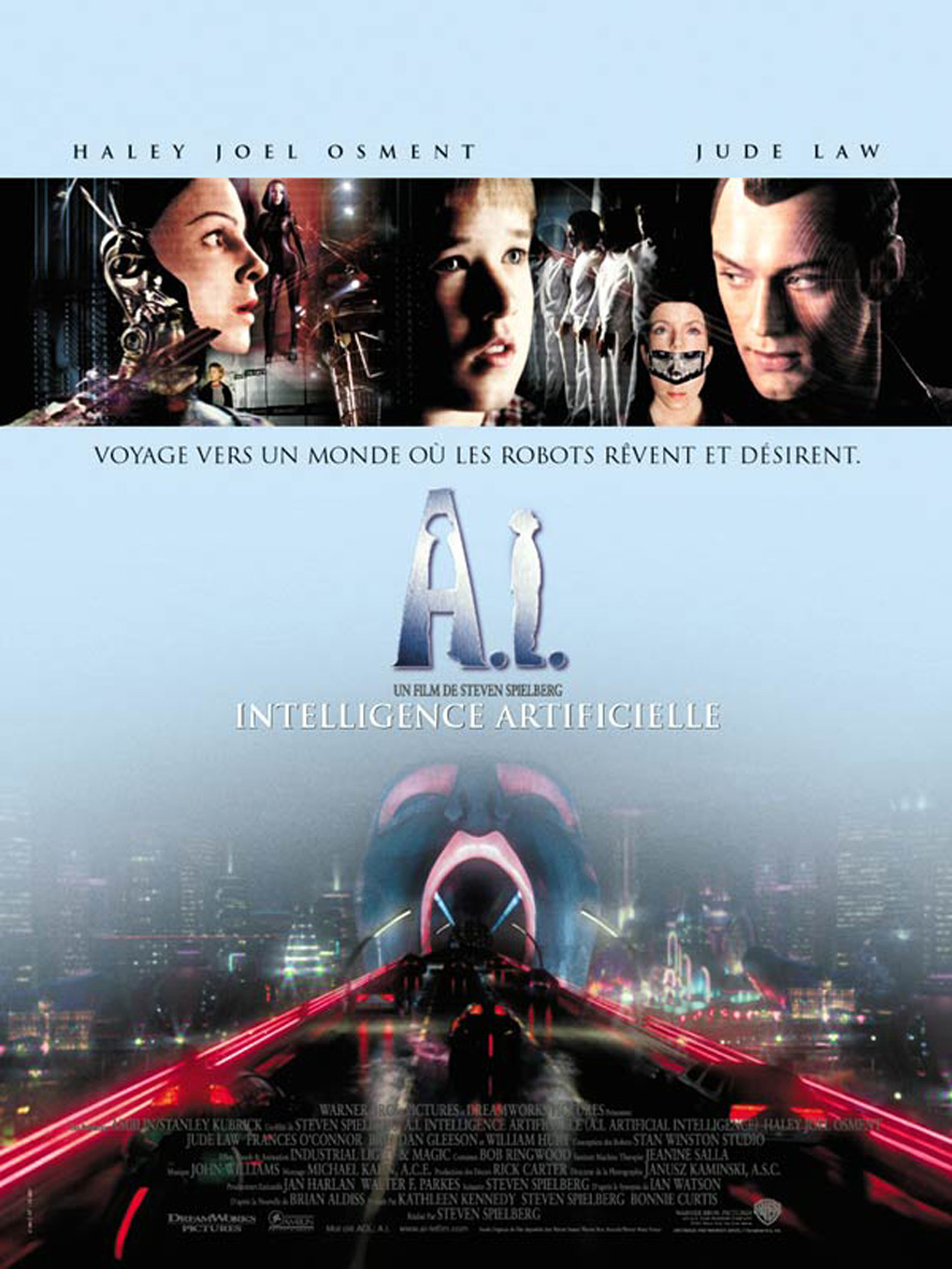 affiche A.I : intelligence artificielle (2001)