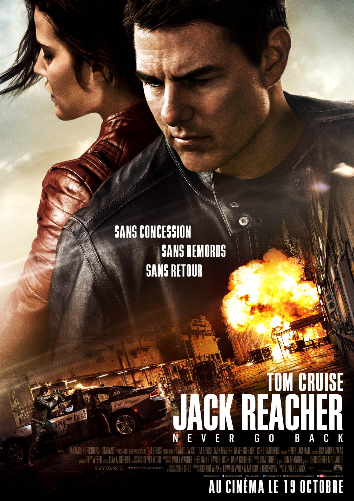 tom cruise dans Jack Reacher : Never Go Back (2016) d'Edward Zwick