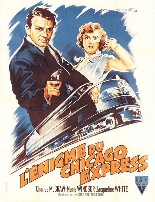 affiche de L'Énigme du Chicago Express (1952) de Richard Fleischer