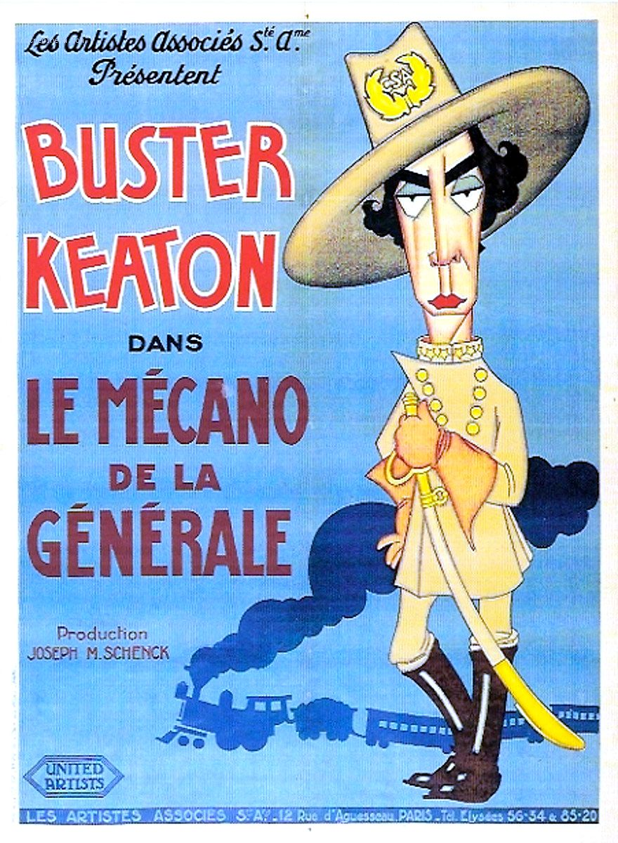 affiche de Le Mécano de la Générale (1926) de Buster Keaton et Clyde Bruckman