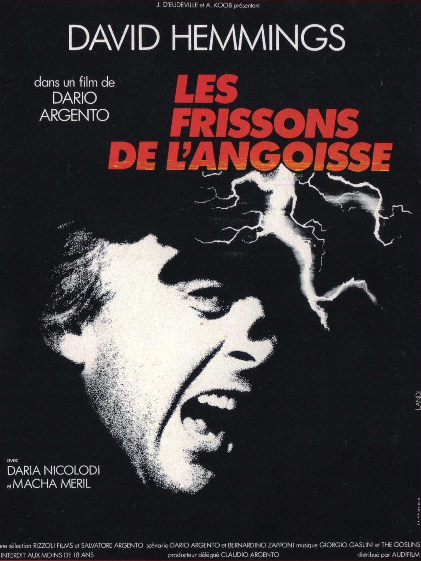 LES FRISSONS DE L'ANGOISSE de Dario Argento