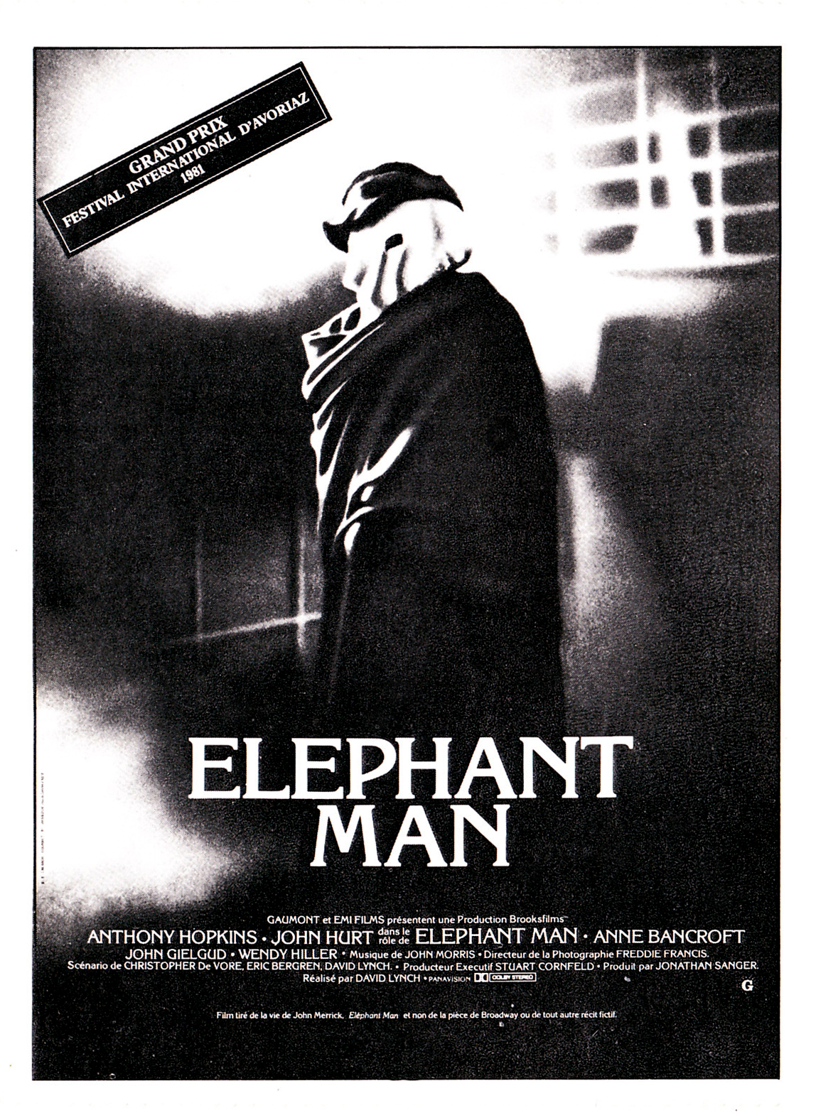 Elephant Man de David Lynch