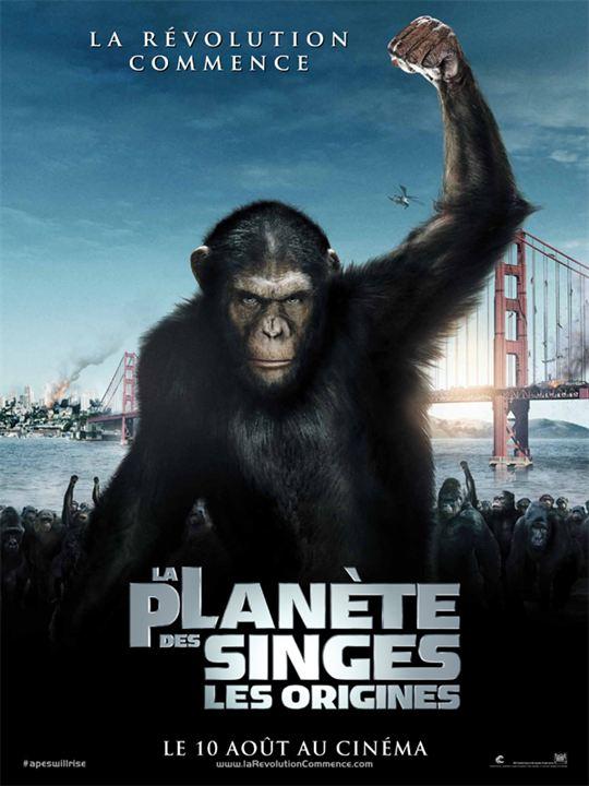 La planète des singes: Les origines affiche