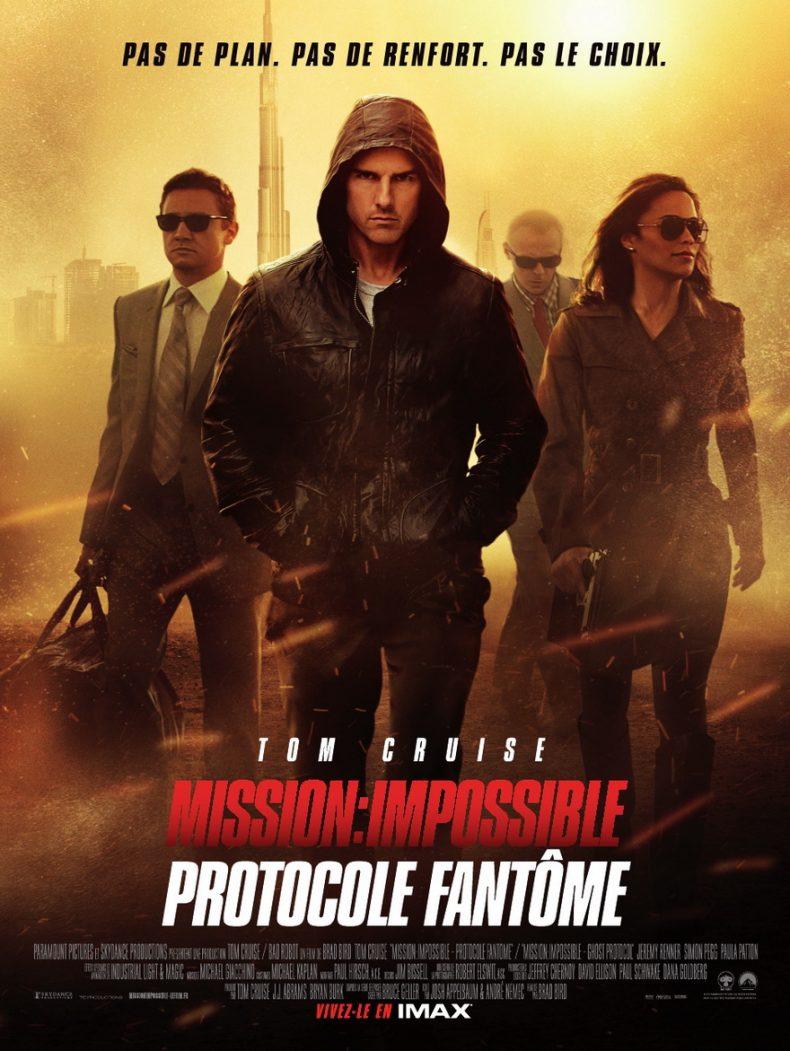 tom cruise dans Mission : Impossible - Protocole fantôme (2011) de Brad Bird