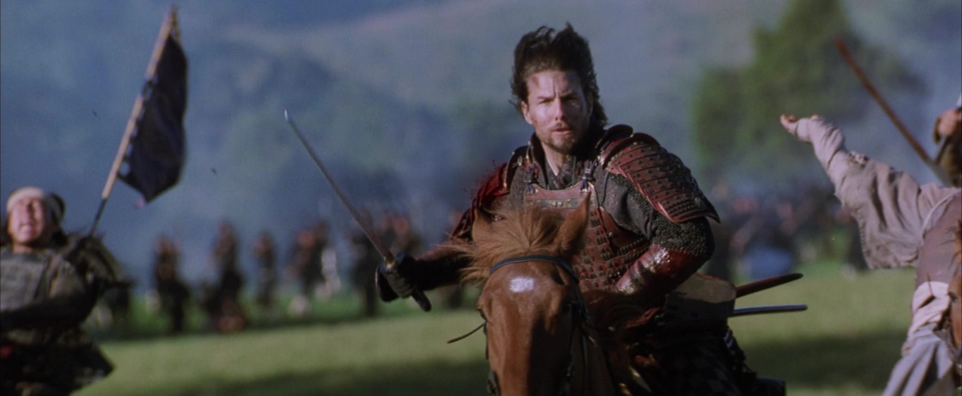 tom cruise dans Le Dernier samouraï (2003) d'Edward Zwick