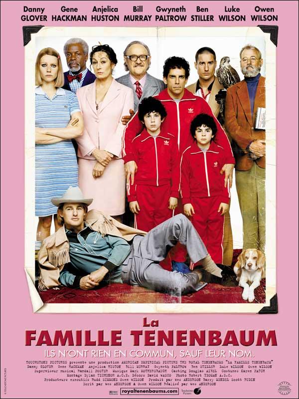La famille Tenenbaum (2001) de Wes Anderson