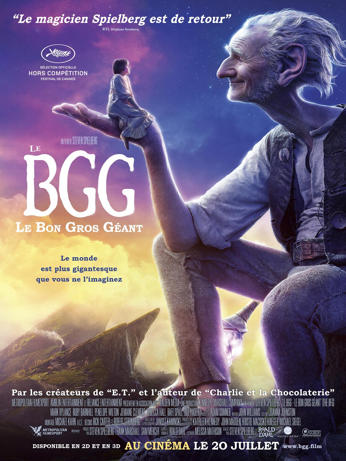 affiche Le BGG : Le Bon Gros Géant (2016)