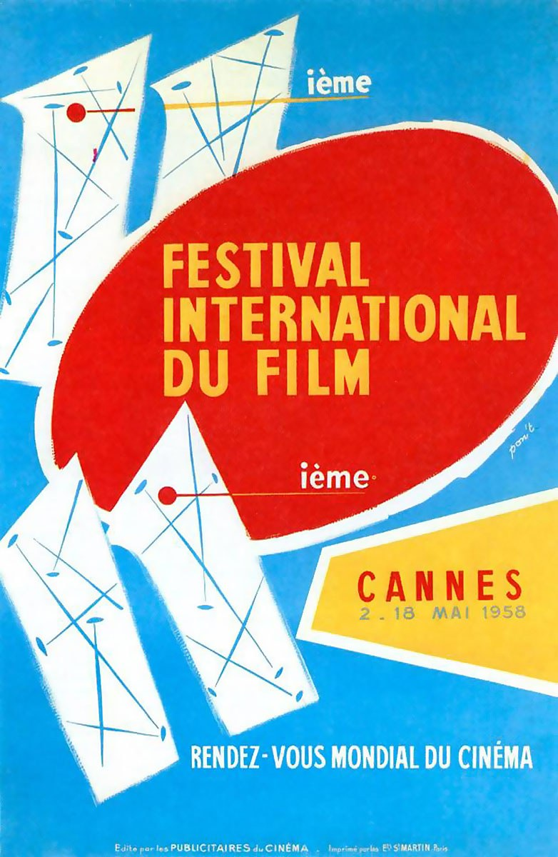 AFFICHE FESTIVAL DE CANNES 1958